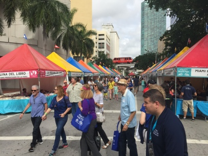 At the Miami Book Fair prior to the evening festivities.