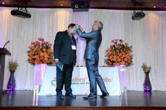Receiving my Gold Medal (Christian Living Category) for my book, MARRIAGE BY DESIGN.